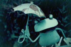 降り続く雨☂