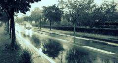 雨の日の帰り道