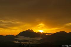 湯布院 雲海と日の出 3