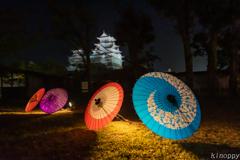 姫路城 和傘幻想 華灯り 2
