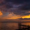 くもで網櫓と有明海夕景 2
