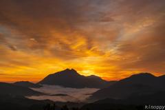 湯布院 雲海と日の出 2