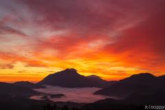 湯布院 雲海と日の出