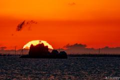 風流島 夕景 4