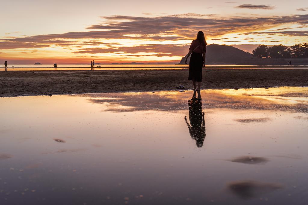 浜辺の夕暮れ4