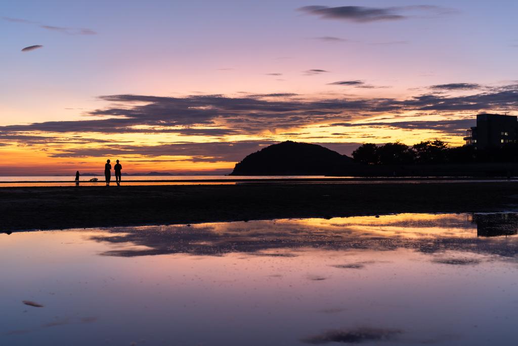浜辺の夕暮れ3