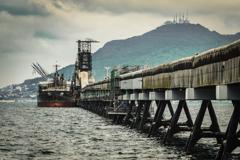 北斗市の海上桟橋