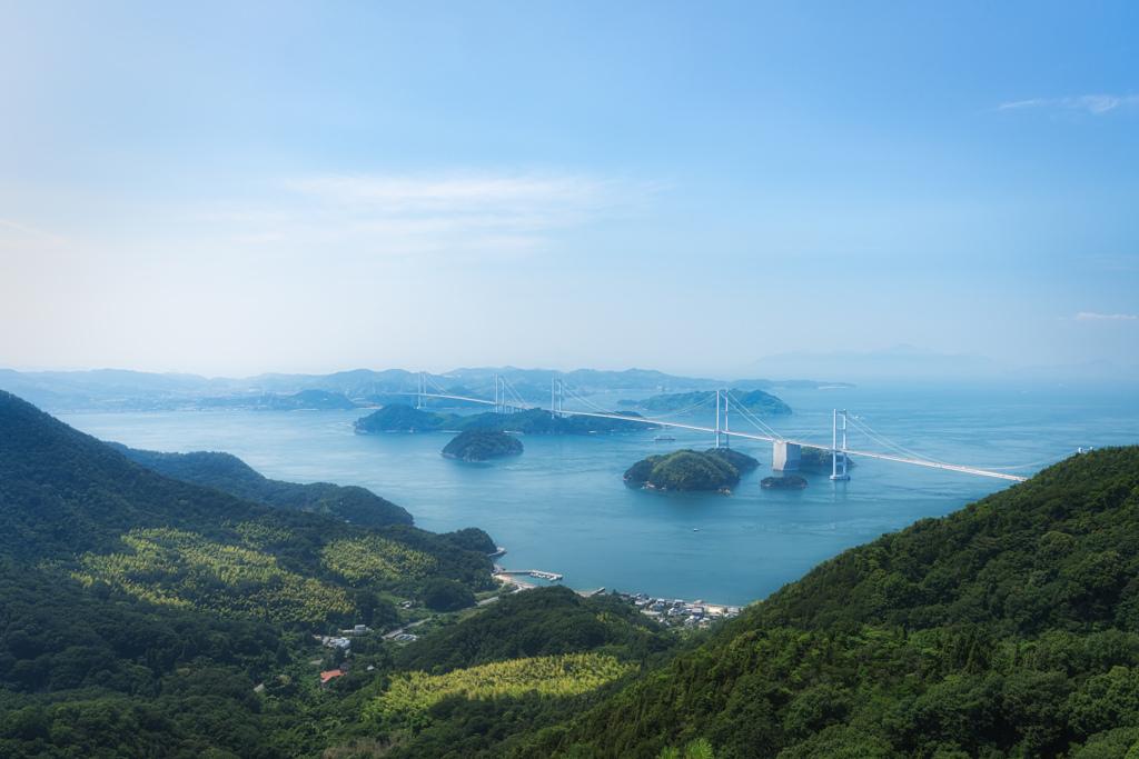 夏の来島海峡大橋