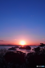松島の朝陽