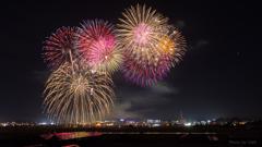 田原祭り 五町合同花火大会②