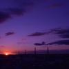 自宅からの夕陽