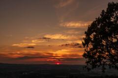 若草山の夕焼け