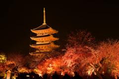 燃える東寺