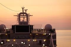 旅の思い出…船からの夕日
