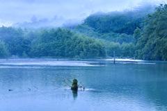 大正池の目覚め