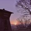 2月の夕日