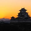 日の出直前 姫路城