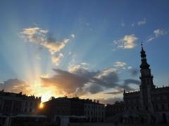 ザモシチの落日~ポーランド Sunset view