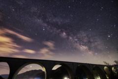 橋に架かる天の川