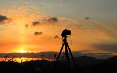 朝日を撮る