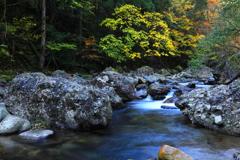 深秋の渓谷2