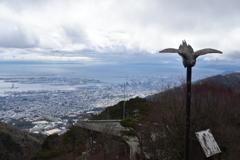 六甲山から見た神戸市内