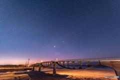橋と天の川
