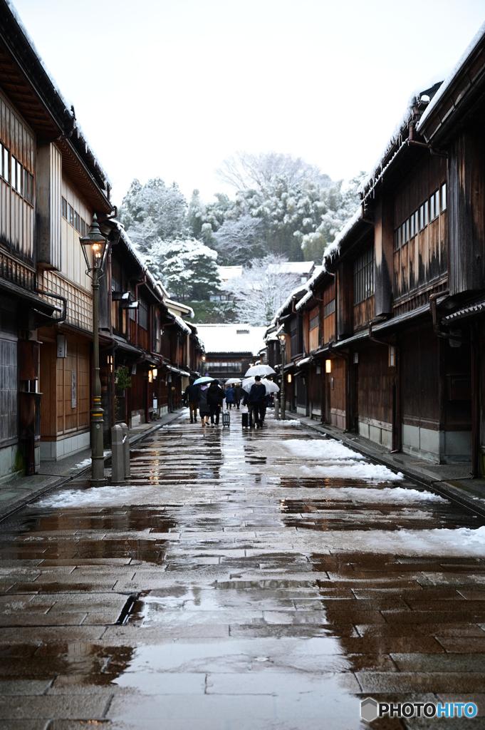 冬のひがし茶屋街