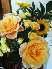 自宅の花で