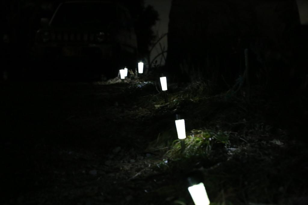 庭のLED灯
