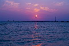 瀬長島より臨む夕陽