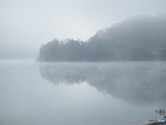 土師ダムの朝靄(あさもや)