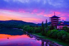夕闇迫る北の京