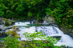 盛夏の瀑布