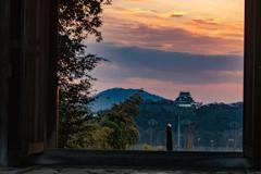 彦根城夕景②
