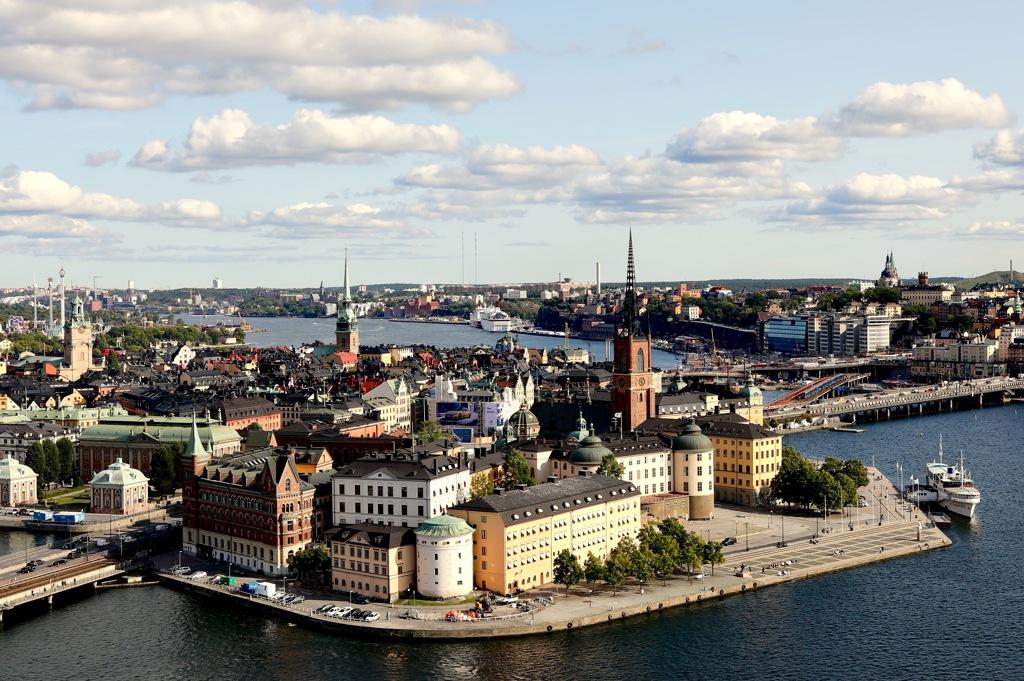 スウェーデン/ストックホルム/市庁舎の塔からガムラ・スタンを