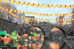 ランタン祭りの眼鏡橋(^^)/