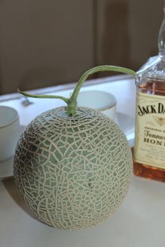 メロンとウイスキーで乾杯