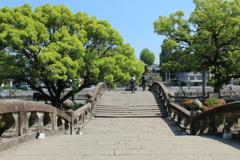 眼鏡橋を渡る(^^)/