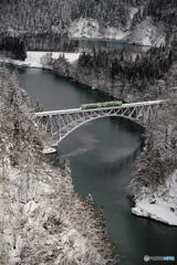 雪景、第一只見川橋梁