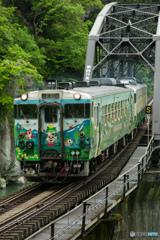 第四只見川橋梁を渡る425D-②