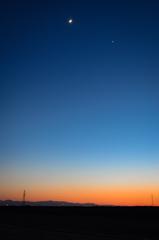月と星と空のグラデーション