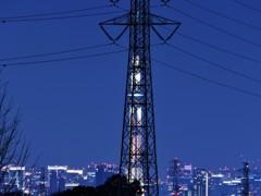 鉄塔とスカイツリーと東京夜景