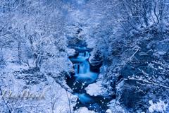 鳳鳴四十八滝 冬景