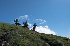 丘の上に立つ三傑