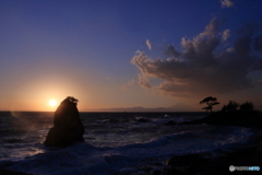 夕陽(立石公園)