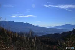 八ヶ岳連峰と富士山