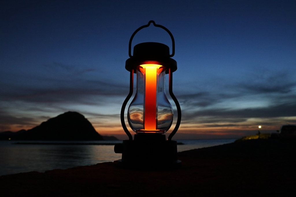 Lantern with after sunset