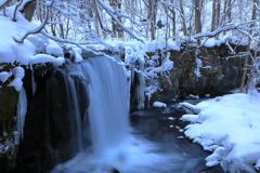 銚子大滝雪景