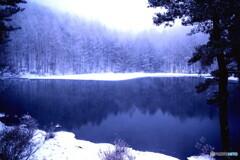 御射鹿ヶ池 冬02